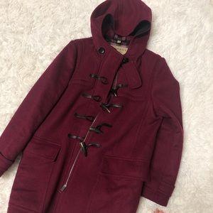 Burberry Coat Maroon